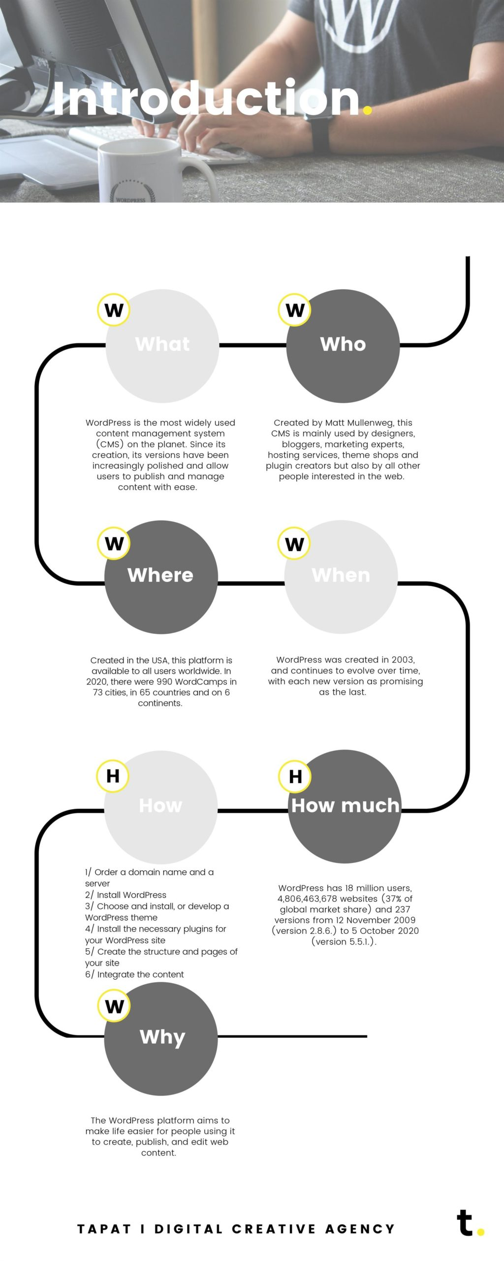 Wordpress infographic 01 introduction - tapat creative agency