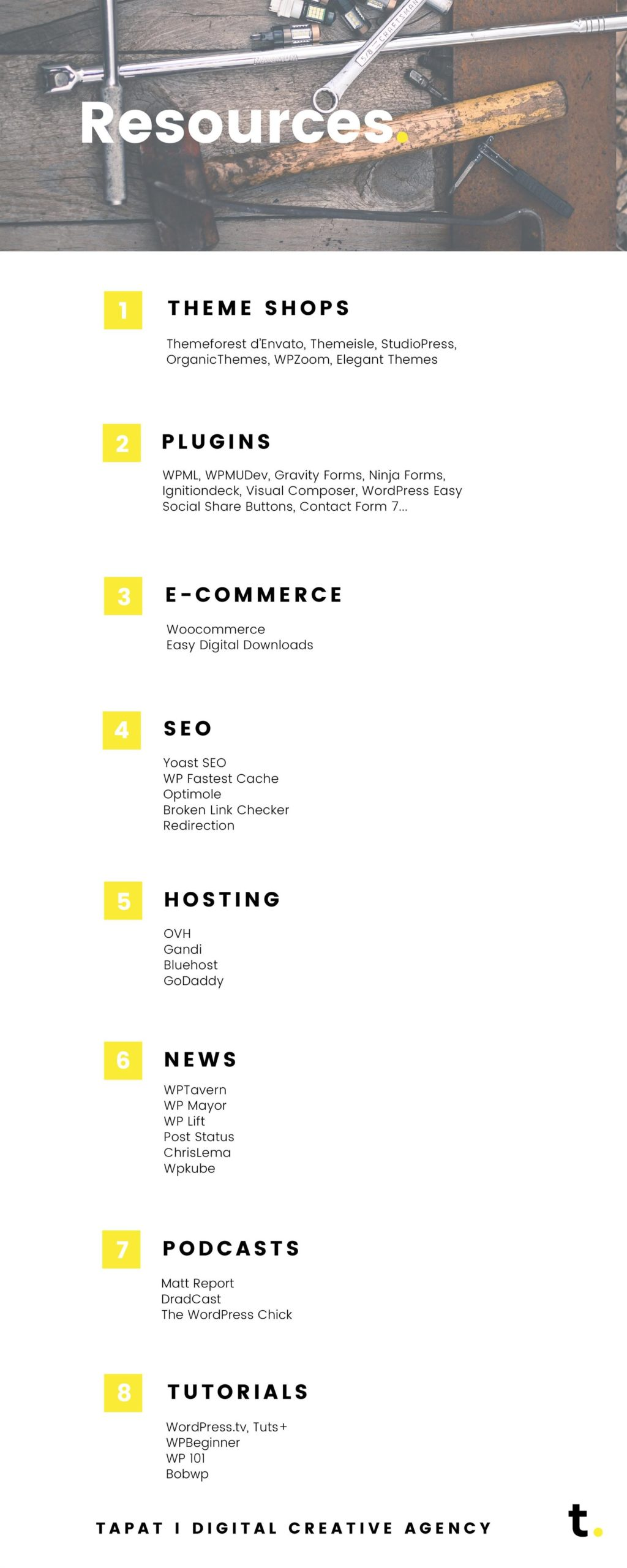 Wordpress infographic 04 resources - tapat creative agency