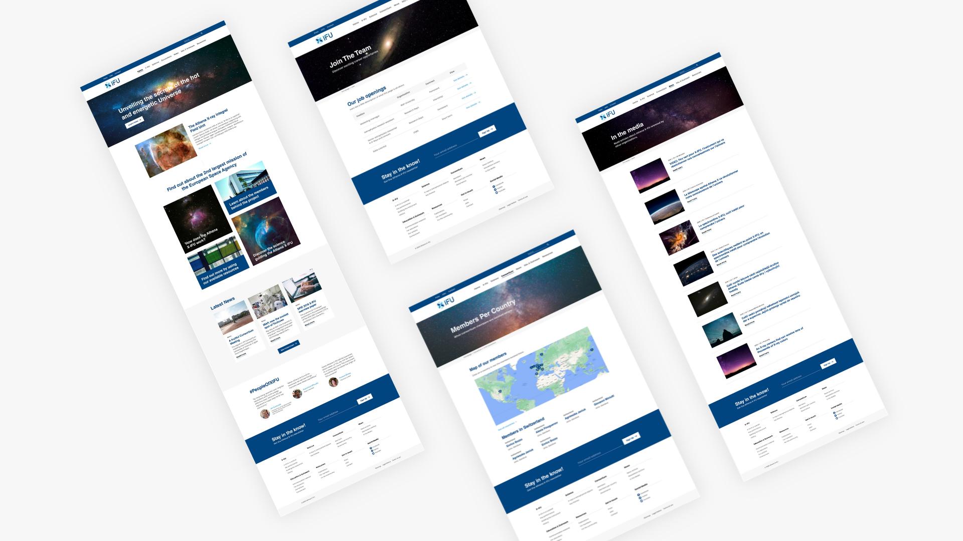 Site internet Athena X-IFU client Tapat Creative Digital Agency