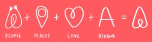explication de la création du logo airbnb