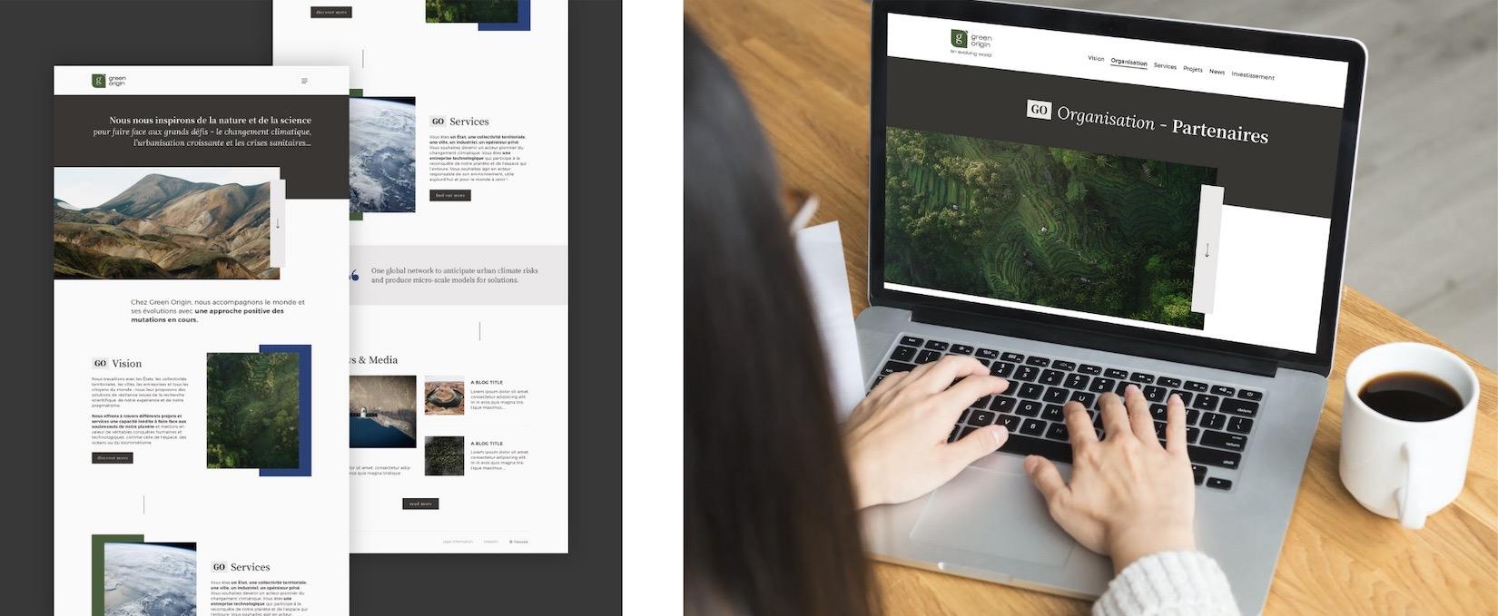 Site web Green Origin - Tapat Creative Digital Agency