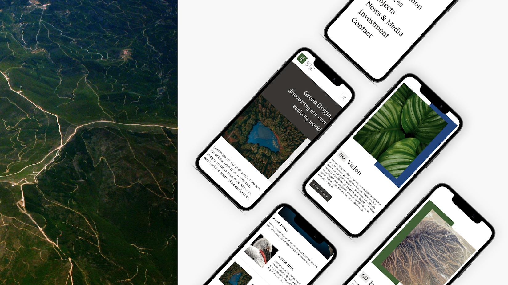 Téléphone Green Origin client tapat creative digital agency