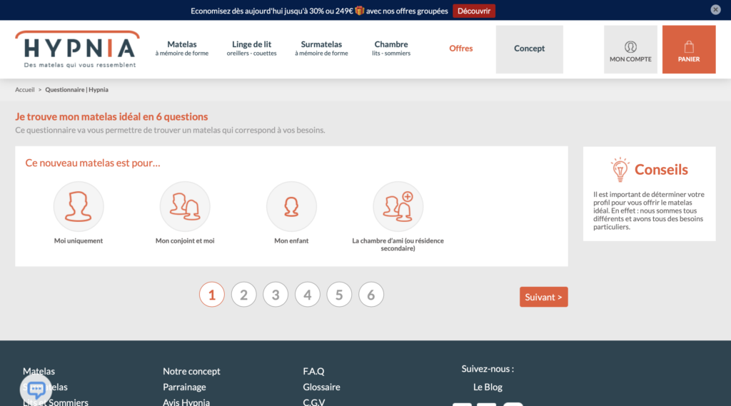 hypnia questionnaire interactif quizz