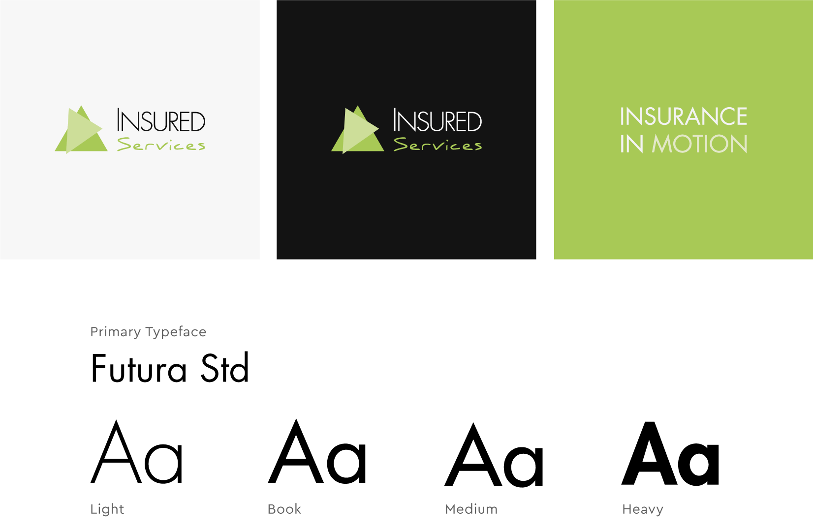 Insured Services - client of Tapat web agency and creative digital agency - branding and fonts