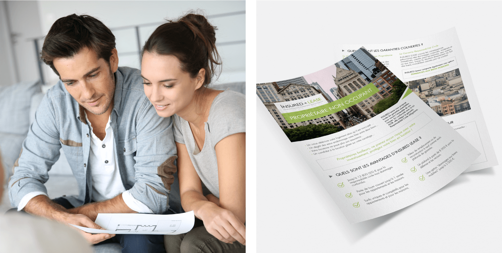 Insured Services - client of Tapat web agency and creative digital agency - flyer design
