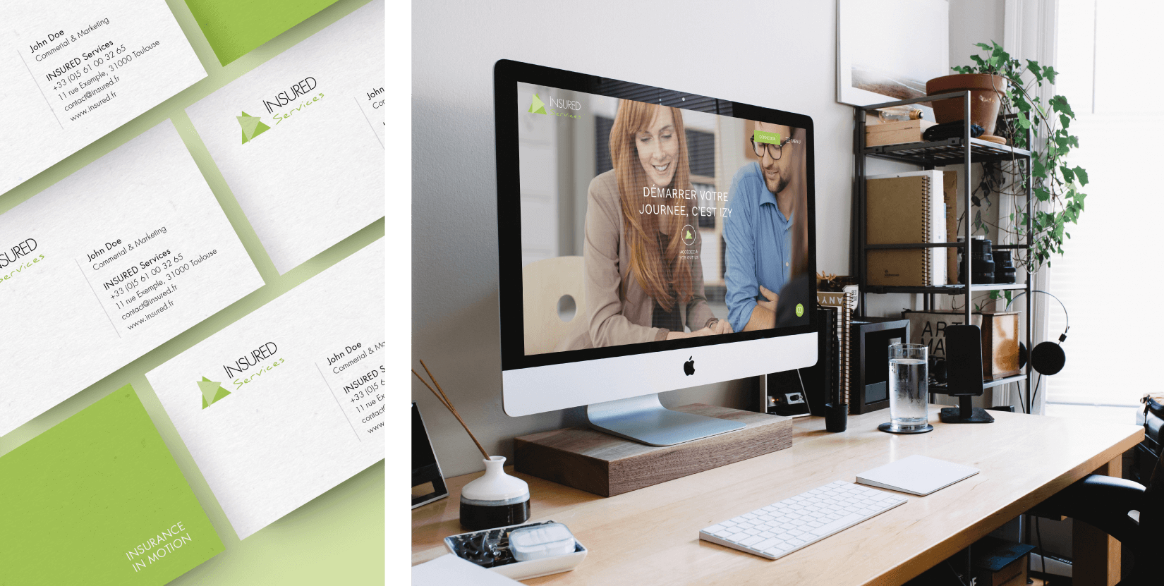 Insured Services - client of Tapat web agency and creative digital agency - business carddesign