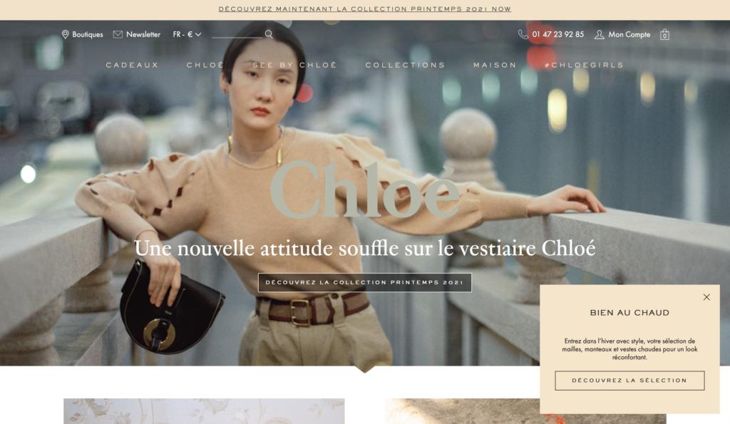 tendance web grosse typographie chloe