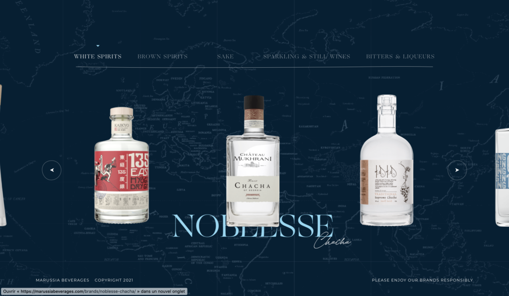 tendances web 2021 animation du background marussia beverages