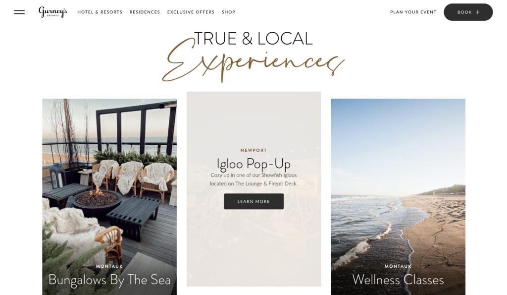 tendances web 2021 couleurs douces gurney's resorts